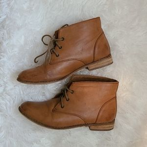 Brown DLG Booties. Synthetic leather. Size 7